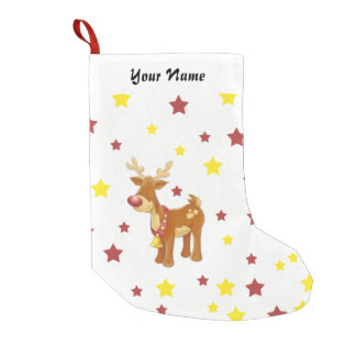 Rudolph the red nosed reindeer Christmas stars Small Christmas Stocking