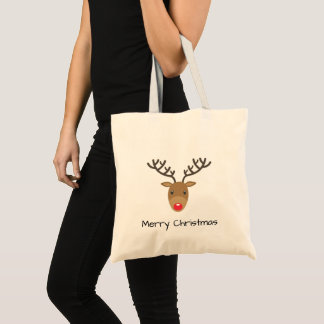 Rudolph The Reindeer Merry Christmas Tote Bag