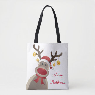 Rudolph Tote Bag with Merry Christmas