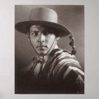 Rudolph Valentino Matte Poster