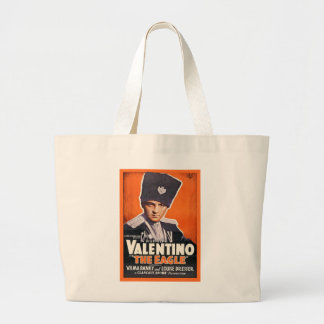 Rudolph Valentino Poster Large Tote Bag