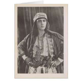 Rudolph Valentino vintage production photo Card