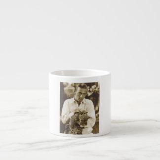 Rudolph Valentino w/ leopard portrait Espresso Cup
