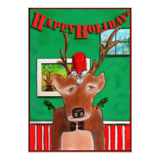 RUDOLPH'S 3RD COUSIN, GLEN MAGNETIC CARD