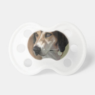Rudy Catahula Walker hound hand painted digital Baby Pacifier