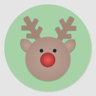 Rudy The Reindeer Holiday Stickers