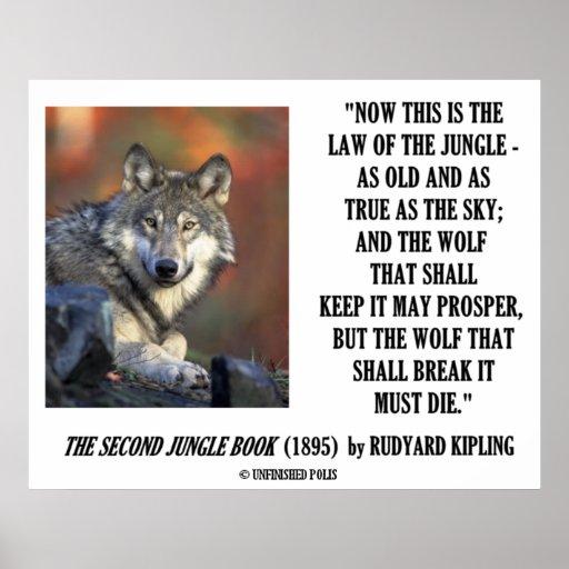 Rudyard Kipling law of the jungle poem