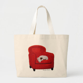 Rudy's Dream -Beaded Jack Russell Terrier Tote Bag