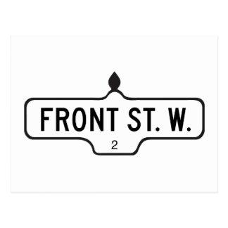 Rue avant occidentale, plaque de rue de Toronto Carte Postale