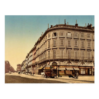 Rue Chapeau Rouge, from the Place Richelieu, Borde Postcard