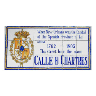 Rue Chartres Tile Mural New Orleans Poster