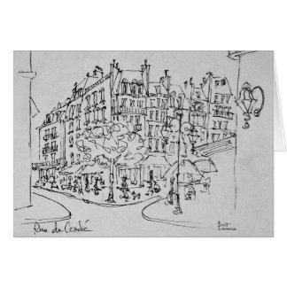 Rue de Conde | Jardin du Luxembourg, Paris Card