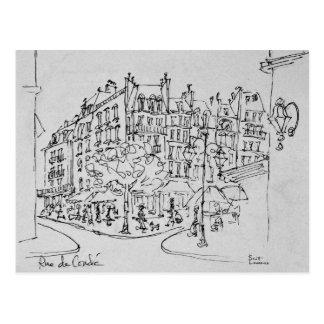 Rue de Conde | Jardin du Luxembourg, Paris Postcard