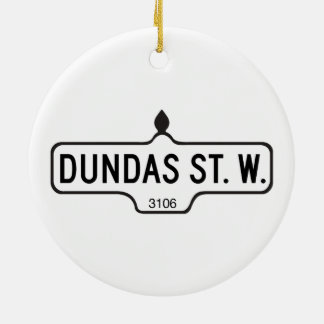 Rue de Dundas occidentale, plaque de rue de Ornement Rond En Céramique