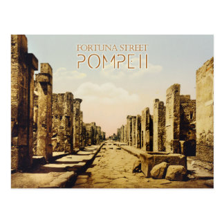 Rue de Fortuna, Pompeii, Italie Cartes Postales