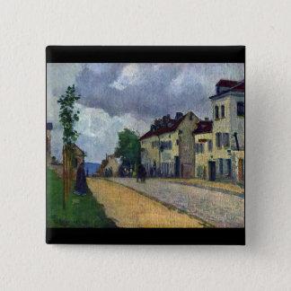 Rue de Gisors by Camille Pissarro 2 Inch Square Button