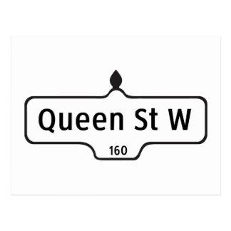 Rue de la Reine occidentale, plaque de rue de Cartes Postales