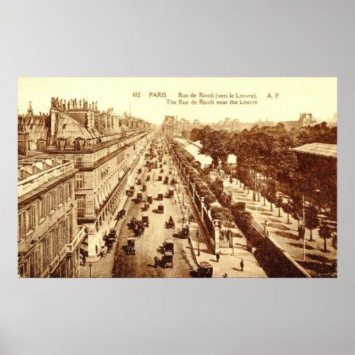 Rue de Rivoli, Paris 1910 Vintage Poster