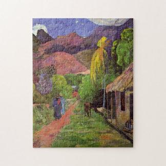 'Rue de Tahiti' - Paul Gauguin Jigsaw Puzzle