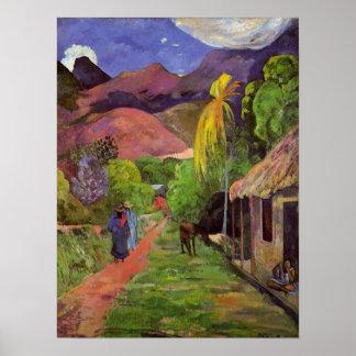 'Rue de Tahiti' - Paul Gauguin Print