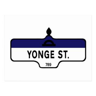 Rue de Yonge, plaque de rue de Toronto Carte Postale