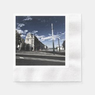 Rue des Moulins in Geneva Disposable Napkin