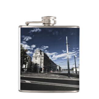 Rue des Moulins in Geneva Hip Flask