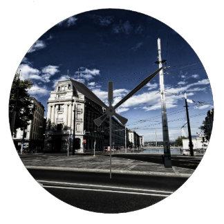 Rue des Moulins in Geneva Large Clock