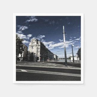 Rue des Moulins in Geneva Paper Napkin