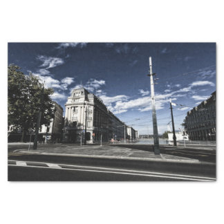 Rue des Moulins in Geneva Tissue Paper