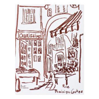 Rue Dominique Conte, Grasse, France Postcard