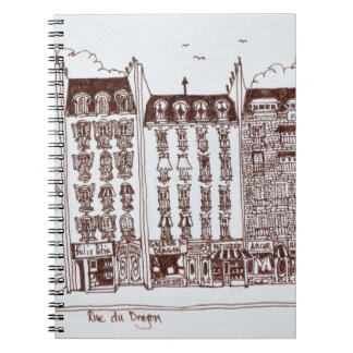 Rue du Dragon, Saint-Germain-des-Pres, Paris Notebooks