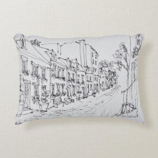 Rue du Petit Champlain, Quebec, Canada Decorative Pillow