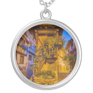 Rue du Rempart-Sud rue l'Allemand-Sud iEguisheim Silver Plated Necklace