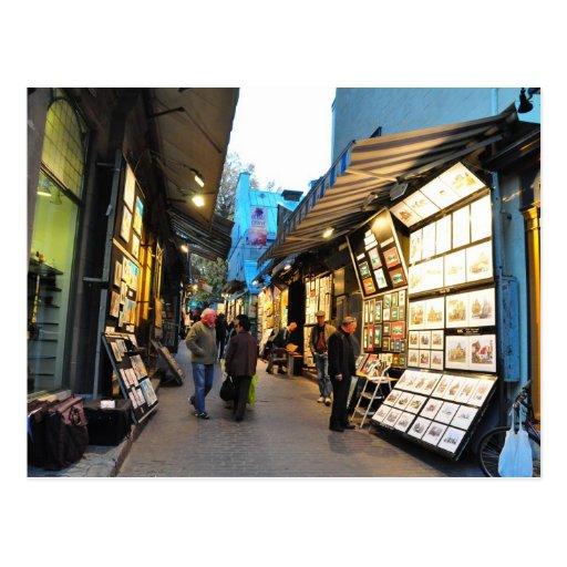 Rue du Tresor Art Alley Quebec City Postcard