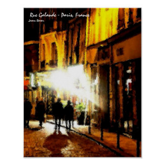 Rue Galande, Paris France Poster