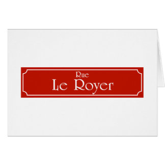 Rue Le Royer, Montreal Street Sign Greeting Card
