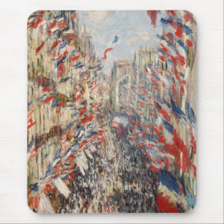 Rue Montorgueil, 30th of June 1878 - Claude Monet Mouse Pad