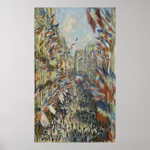 Rue Montorgueil in Paris by Claude Monet Print