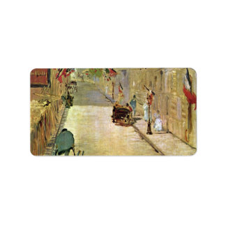 Rue Mosnier with Flags by Edouard Manet