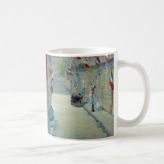 Rue Mosnier with Flags Manet French France Art Coffee Mug