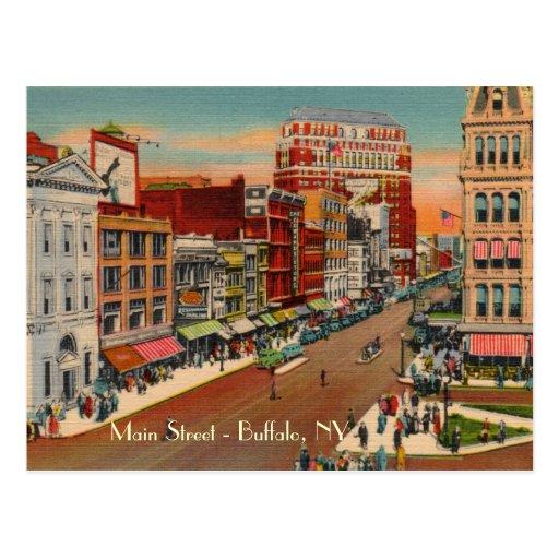 Rue principale - Buffalo, carte postale de cru de