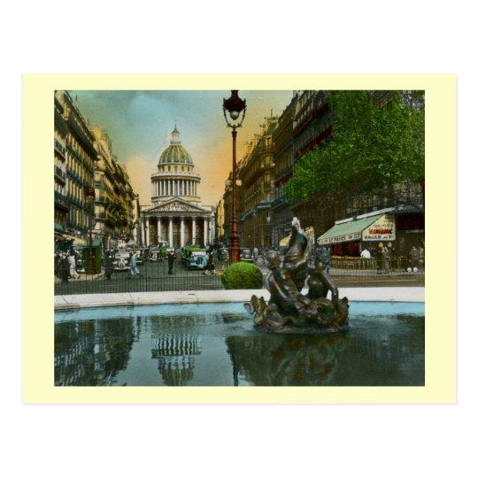 Rue Soufflot, Pantheon, Paris, France Vintage Postcard