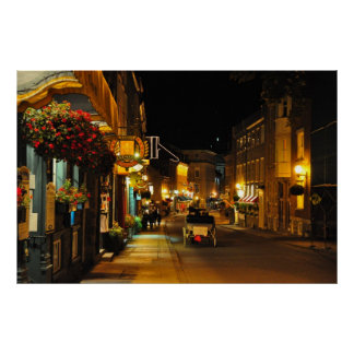 Rue St. Louis Horse Drawn Carriage Quebec Poster
