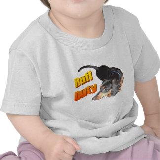 Ruff Duty Dachshund Baby Shirt