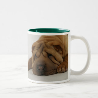Ruff Morning Two-Tone Coffee Mug