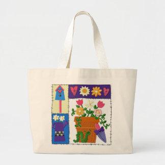 Ruff Patch Garden Design Jumbo Tote Bag