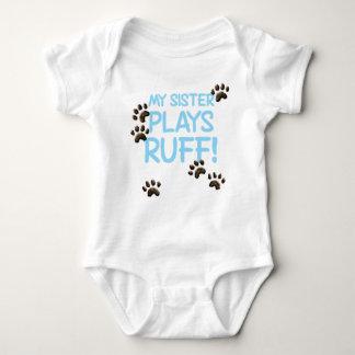 Ruff Sister - Blue Baby Bodysuit
