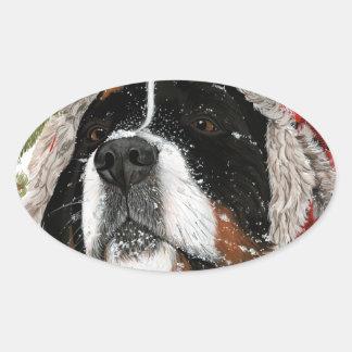 Ruff Winter Oval Sticker