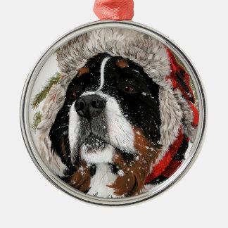 Ruff Winter Silver-Colored Round Ornament